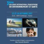3e colloque internationale francophone en Environnement et Santé